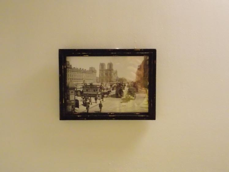Paris picture in bathroom