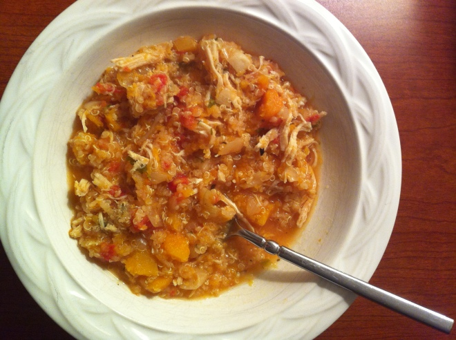 Hearty Chicken, Quinoa and Butternut Squash Stew