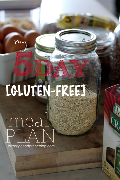 5 day gluten free meal plan