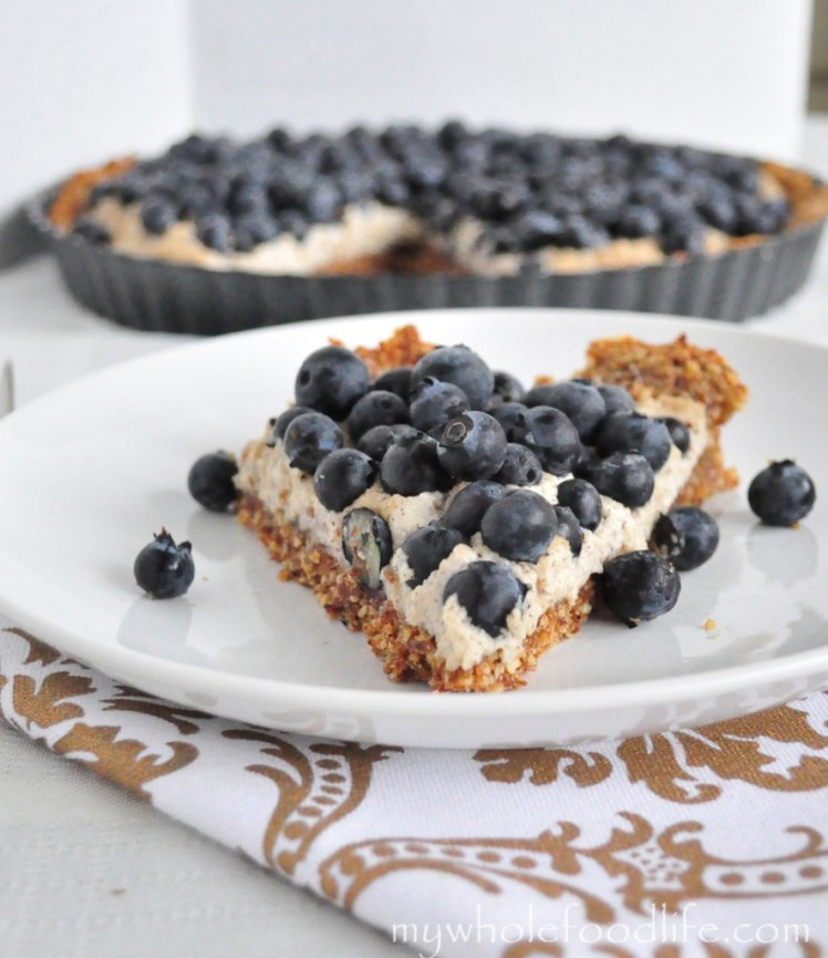 grain-free blueberry tart