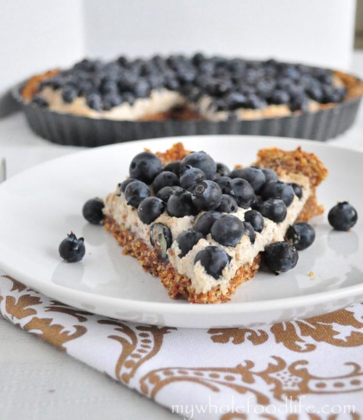 grain-free blueberry tart