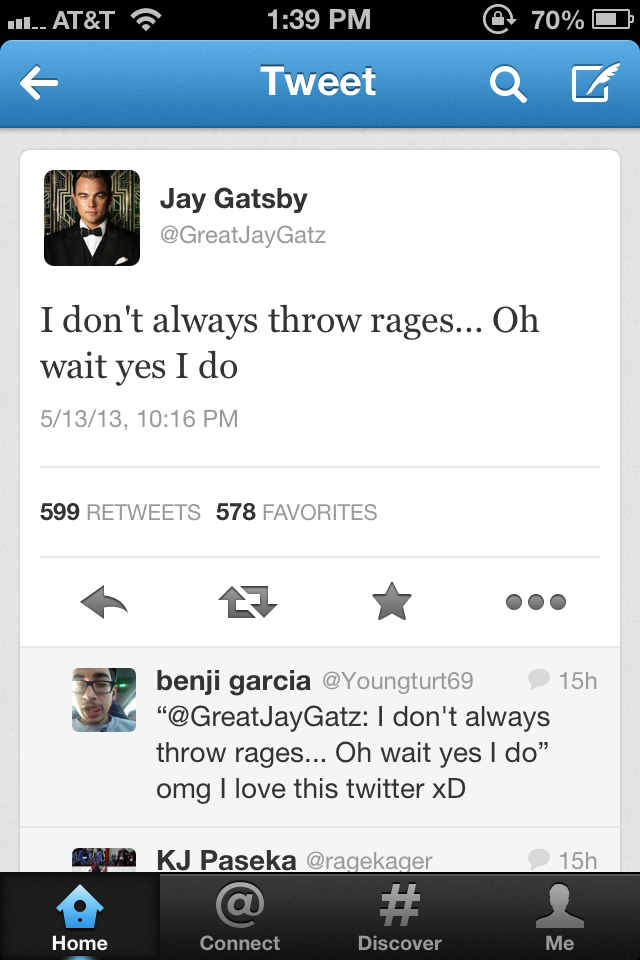 The Great Gatsby Twitter