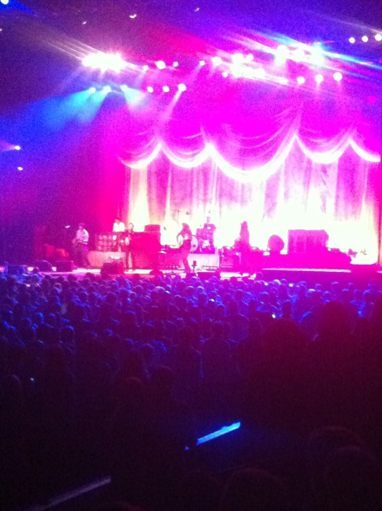 avett brothers in concert at bridgestone arena