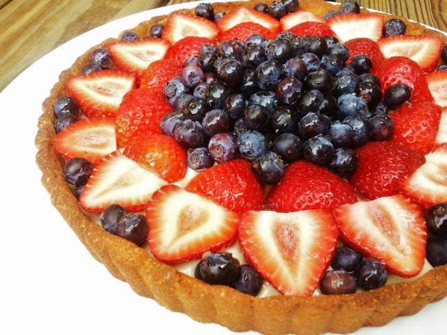 gluten free fourth of july fruit tart