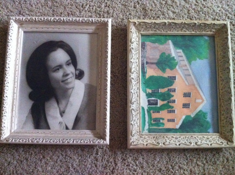 white vintage frames
