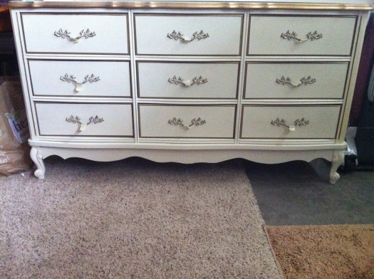 white french style dresser