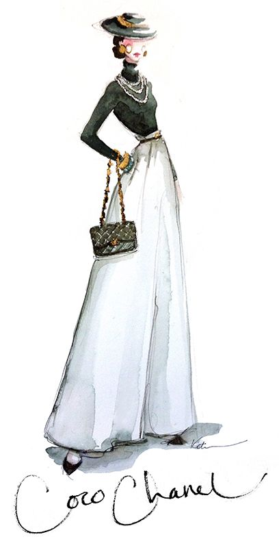 coco chanel by paper fashion katie rodgers