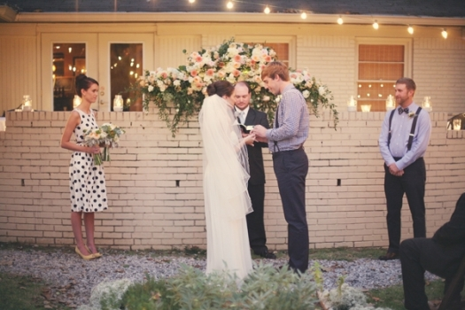 garden wedding in memphis from ruffled