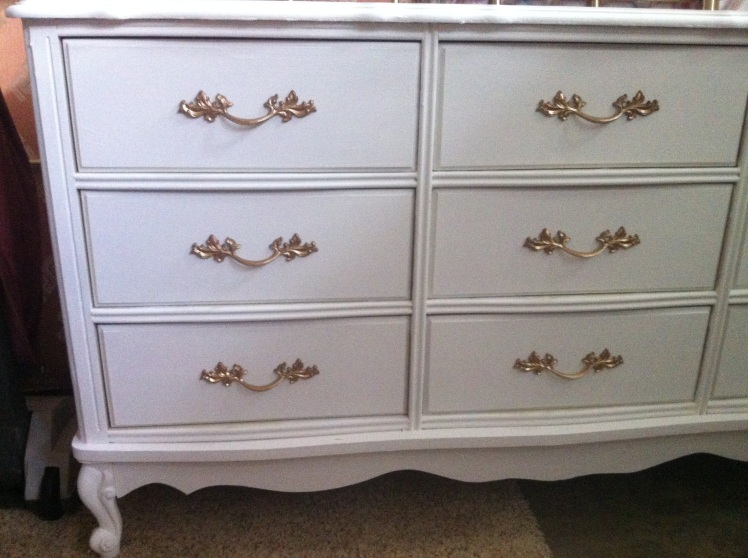 provincial dresser in pure white annie sloan paint
