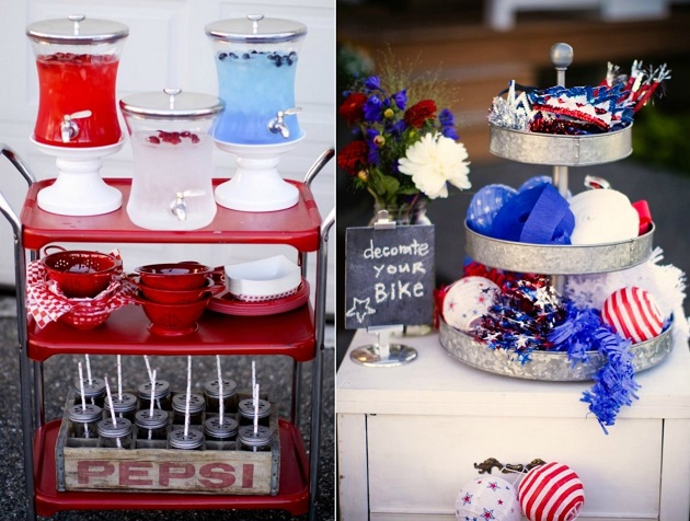 4th of july rustic tablescape
