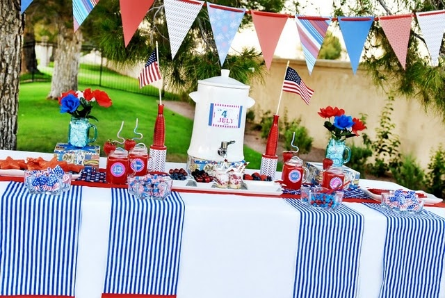 Fourth of july tablescapes delight for 4th of july party decoration