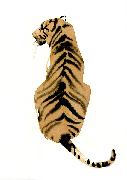 watercolor tiger from agent & artists