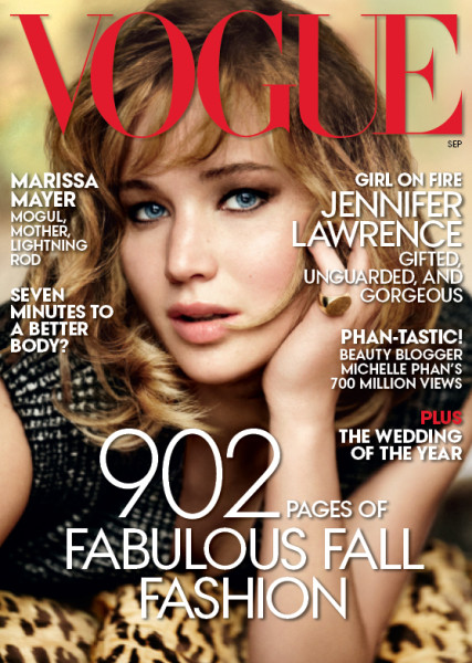 Jennifer lawrence vogue september cover