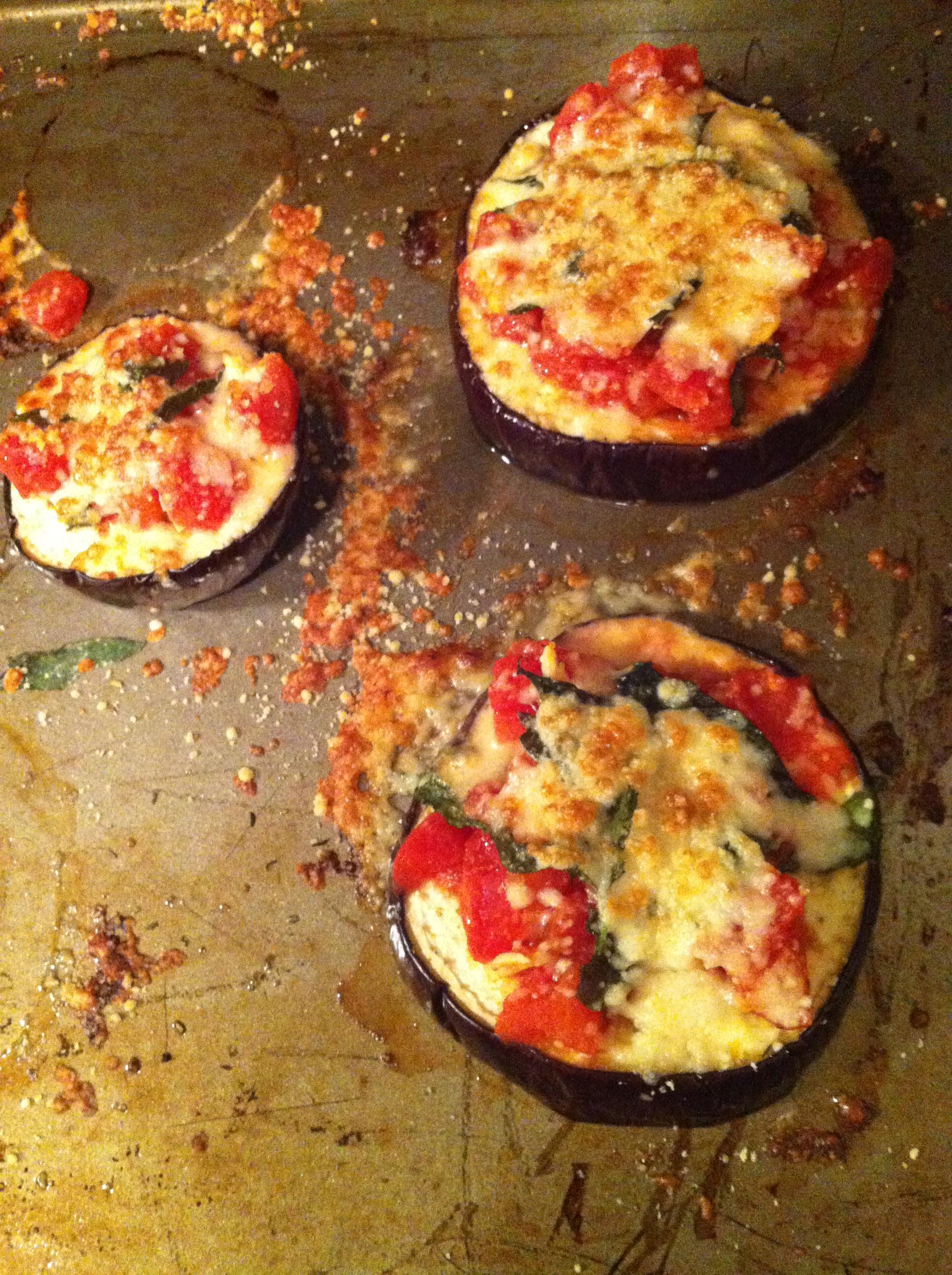 eggplant pizzas – delight