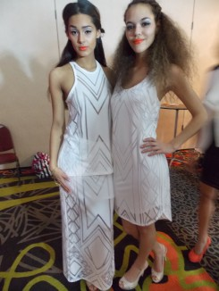Loved these girls' makeup and all white