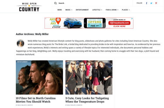 molly miller author wide open country