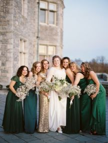 emerald-green-and-gold-bridesmaids