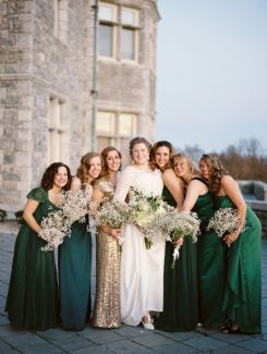emerald-green-and-gold-bridesmaids