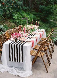 pink-black-white-wedding-table