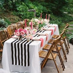 pink-black-white-wedding-table