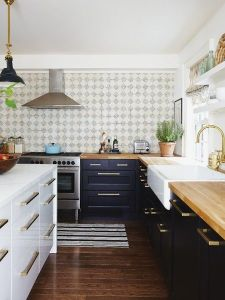 white-navy-cabinet-kitchen