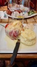 Ew. Chris's meal at Taverne Karlsbrau.