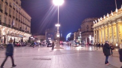 The tram runs right through this mainly pedestrian area