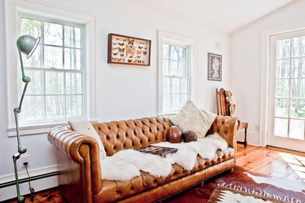 caramel leather chesterfield sofa