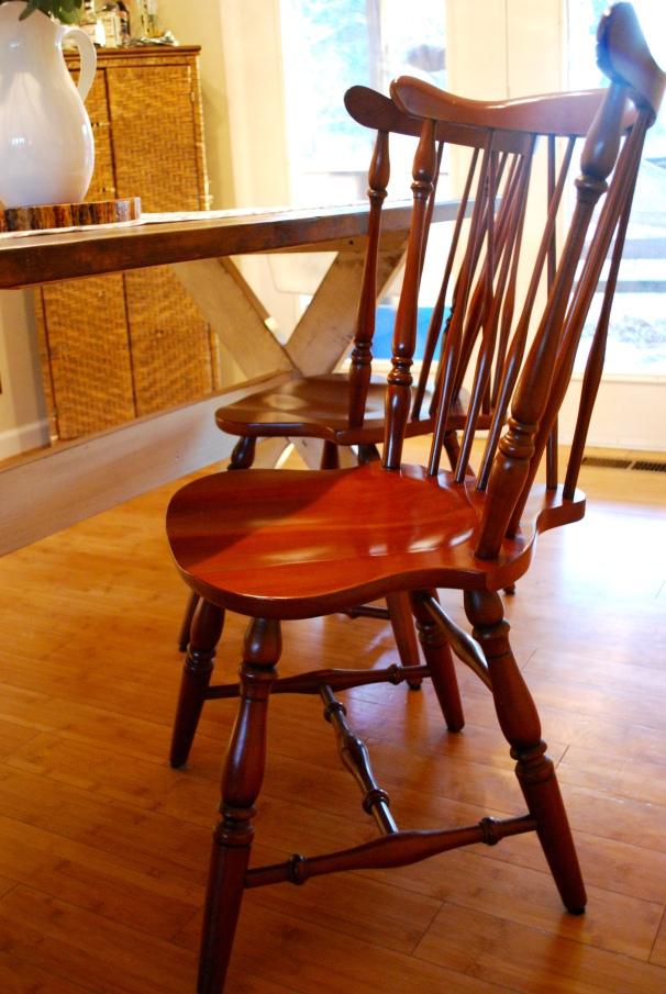 cherry wood windsor chairs